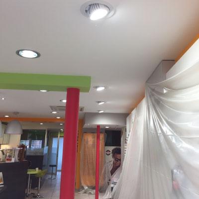 Éclairage de plafond